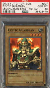 most valuable yugioh cards celtic guardian