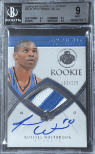 russell westbrook rookie card first