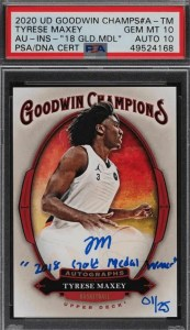 tyrese maxey rookie card goodwin