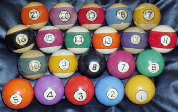 21 pool ball set