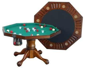 octagonal bumper pool table