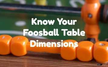 foosball table dimensions