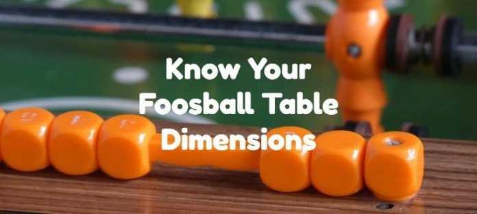 foosball table dimensions