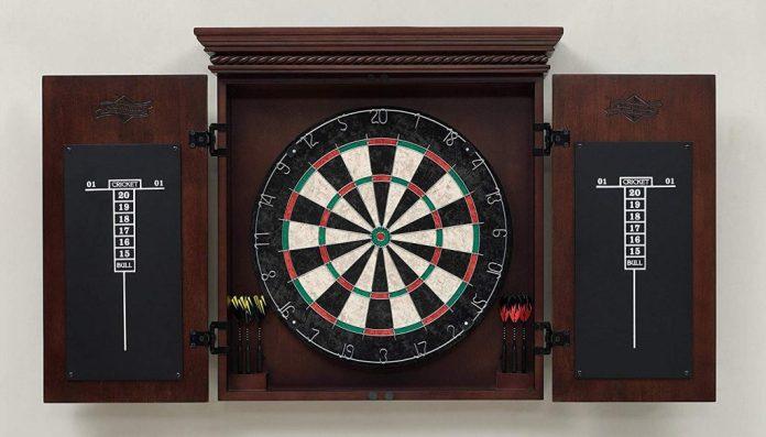 American Heritage Billiards Dart Board Cabinet