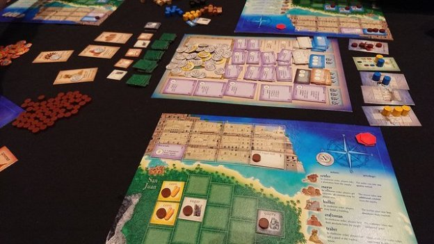 Playing Puerto Rico Board Game