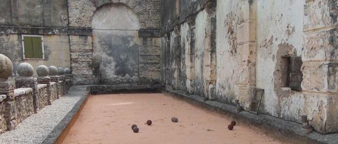Roman Bocce Ball Courtyard
