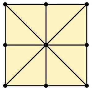 Three Mens Morris Variant Grid