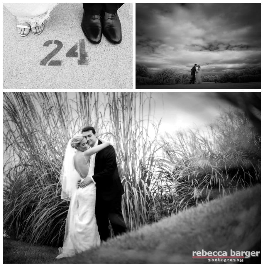 Wedding day images on the golf course of Aronimink Golf Club.
