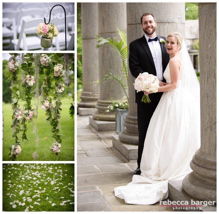 Gorgeous outdoor ceremony decor by Fleur de lis Floral