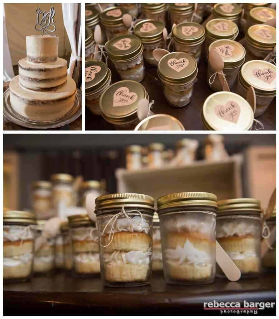 Cake in a mason jar for guest gifts!