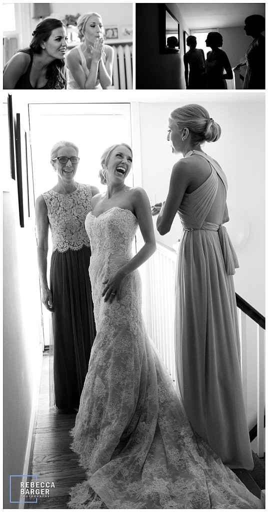 Lauren prepares for her wedding with her mother and sister, gown from Nicole Bridal, Jenkintown.
