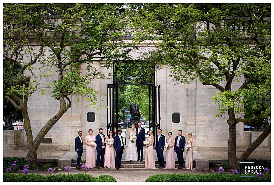 Bridal party at The Rodin in Phila.