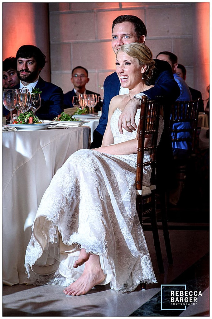 You just have to admire and love a barefoot woman in the most significant gown she'll ever wear! Nicole Bridal.