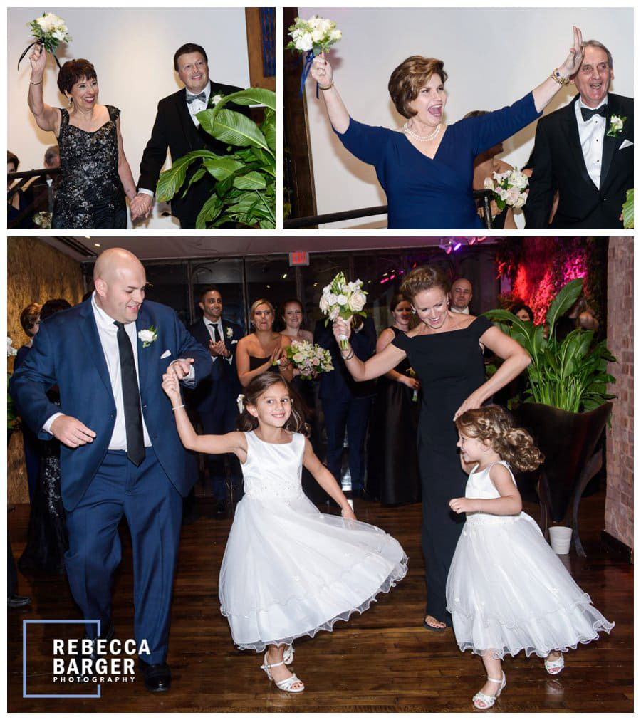 Lots of fun entrances from the parents and the flower girls.
