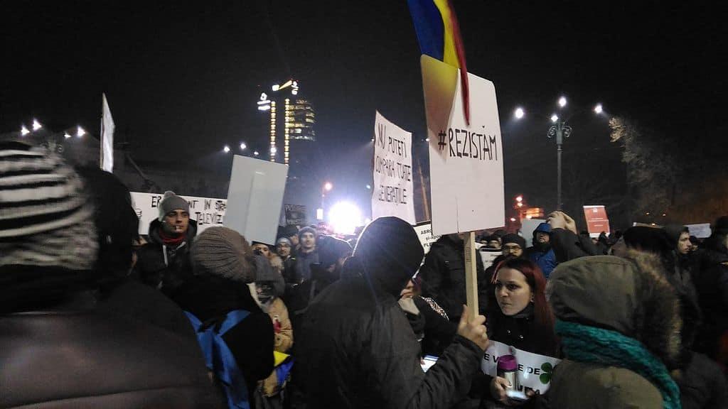 Букурещ, февруари 2017 г.–отново на революционна вълна. Снимка: Wikimedia Commons
