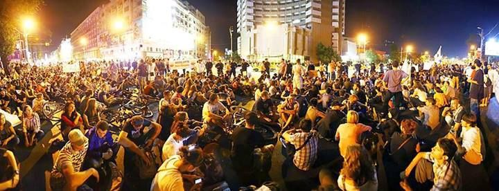 """Протестът от 2013 г. срещу проекта """"Рошиа Монтана"""". Снимка: Фейсбук"""