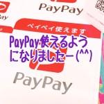 PayPay使えるようになりました