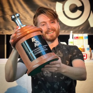 Cole Torode from Rosso Coffee is the Canadian Barista Champion 2018