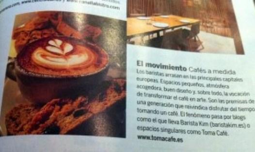 Barista Kim Ossenblok y Toma Café - Madrid en El Pais Semanal