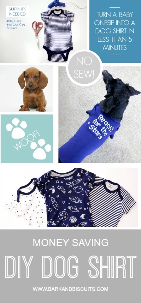 Money Saving No-Sew DIY Dog Shirt