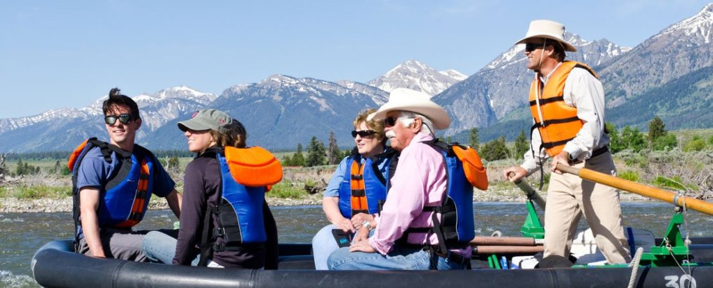 Enjoying a Barker-Ewing Scenic Float Trip on the Snake River in Grand Teton National Park