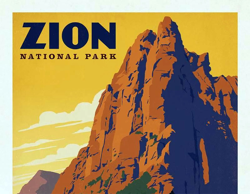 Historic Zion National Park Poster - Snake River float trips