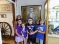 Campers with Lincoln at Old Lighthouse Museum 2016