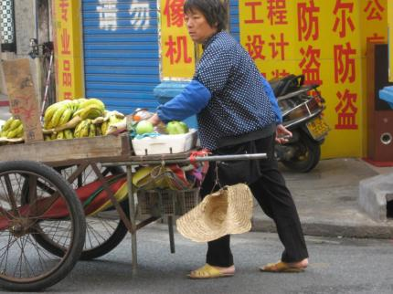 Fruit stand in Jiangmen