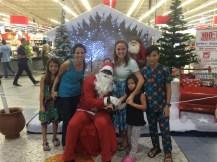 Seeing Santa at the local supermarket
