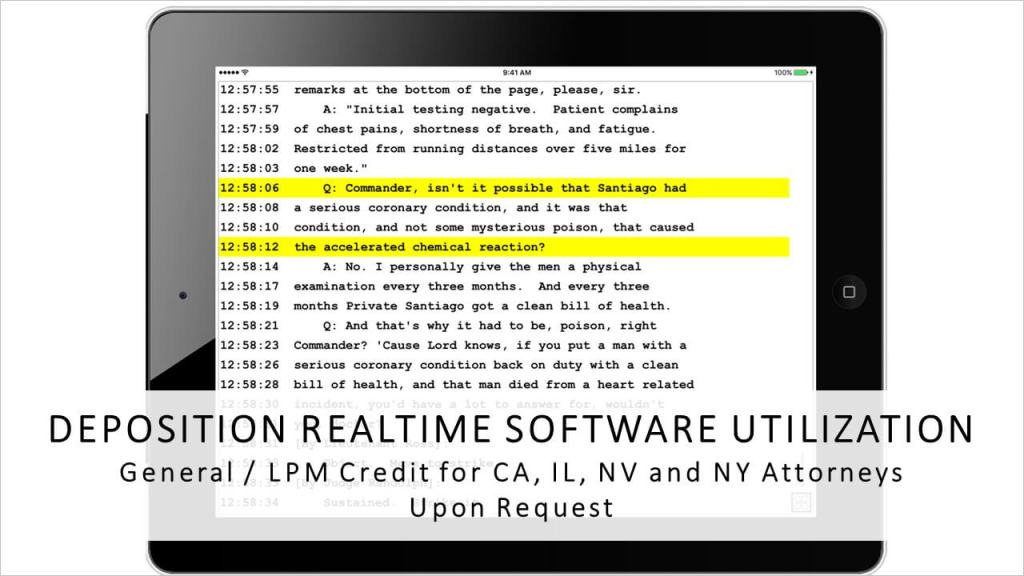 Deposition Realtime Software Utilization