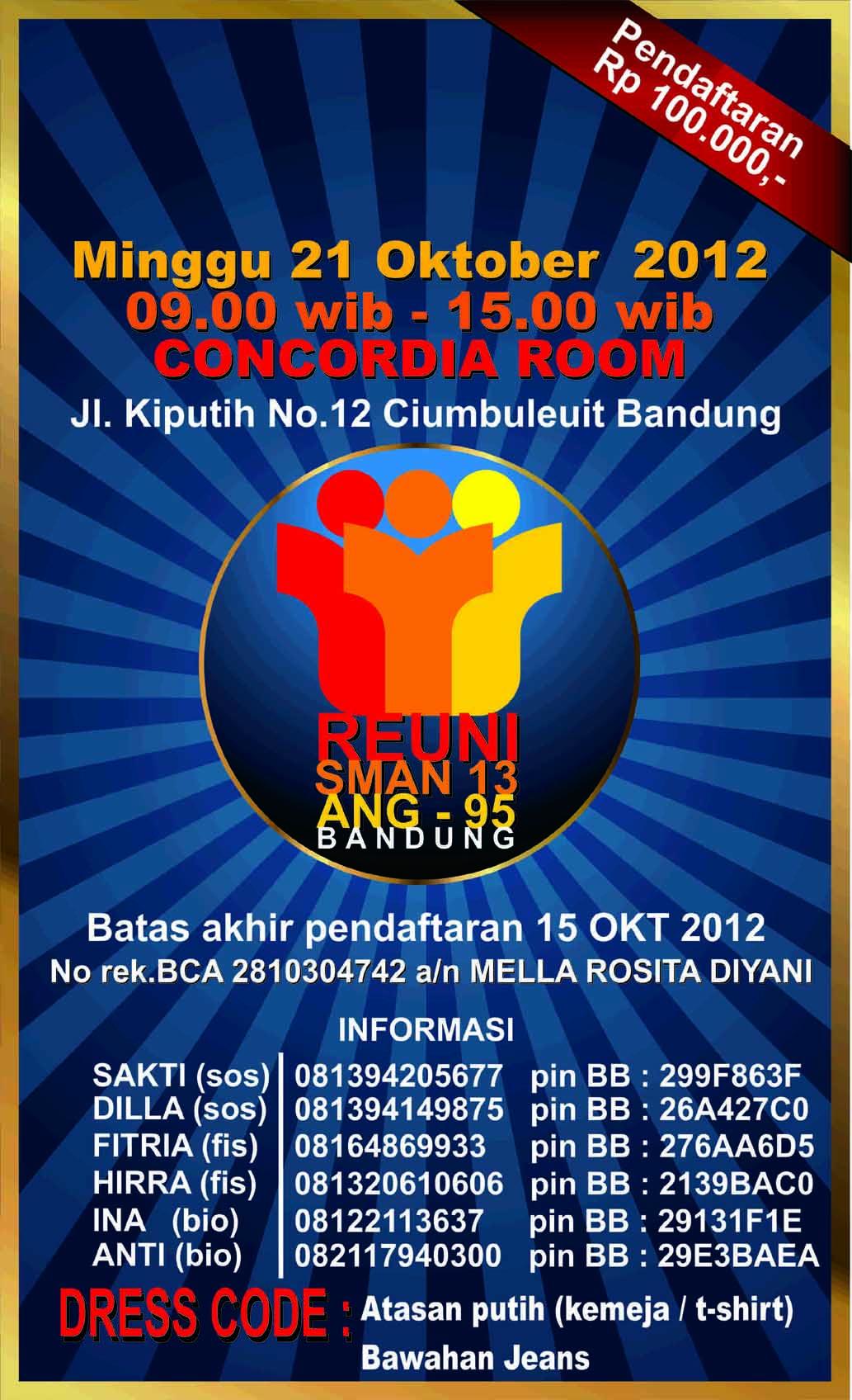 Undangan Reuni Sman 13 Cijerah Bandung Angkatan 95 Barkodz