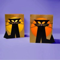 Make: Black Cat Paper Bag Luminaries