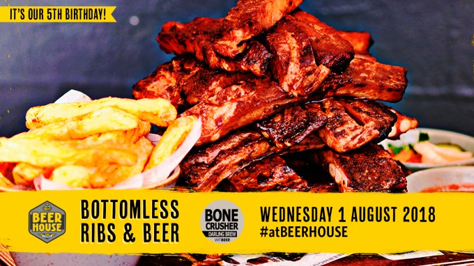 Beerhouse on Long 5th Birthday Bottomless Ribs and Bone Crusher