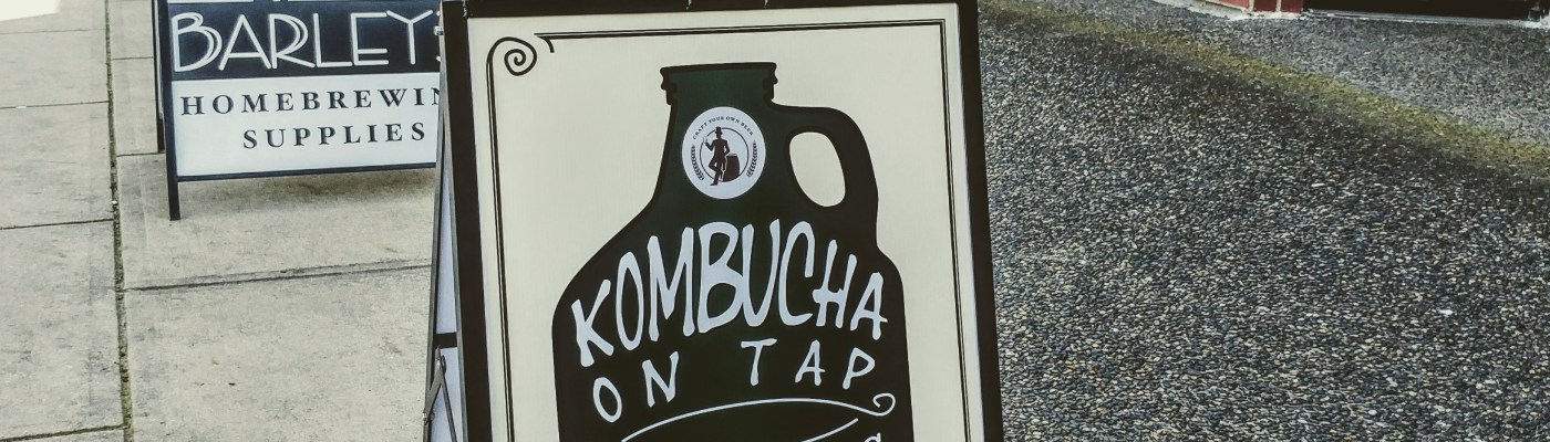 Get Kombucha at Barley's