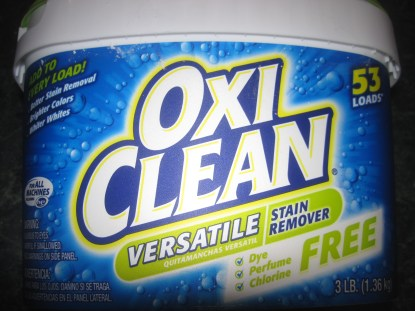 Bottle De-Labeling - OxiClean