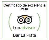 Certificado de excelencia de Tripadvisor 2016
