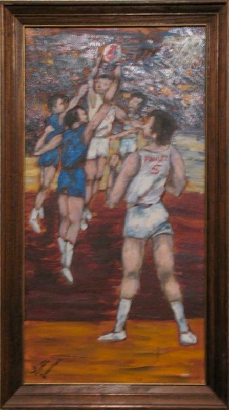 Nets Basketball (1970)Oil on Canvas