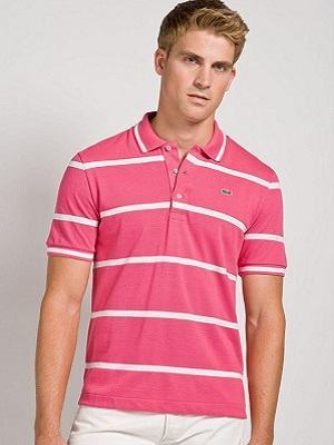 camisa rosa listrada
