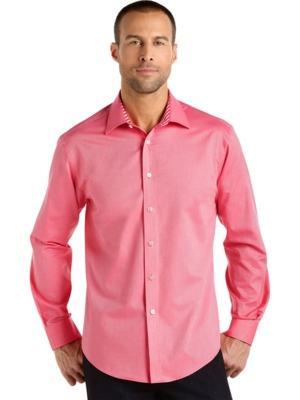 camisa rosa social masculina