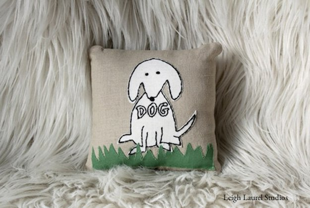 Easy DIY Dog Embroidery Pillow