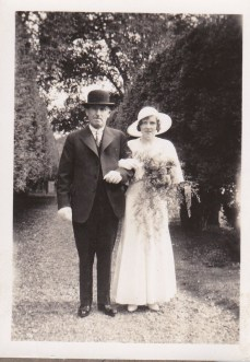 Wedding Day 1934 at all saints church. Ted Streets and Daughter