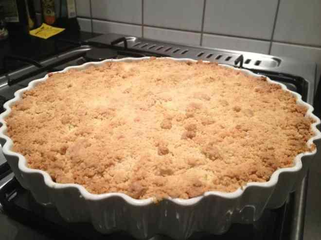 apple crumble ginger - æblekage med ingefær uden mælk opskrift - kage tærte - allergener allergi