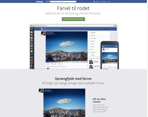 Facebook nyheder nyt design af News Feed