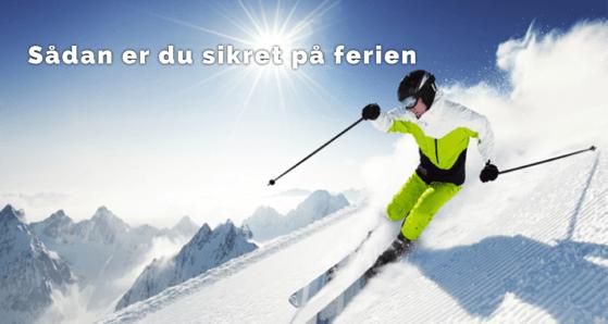 skiferie ski forsikring Er du forsikret på din skiferie? Sådan for sikrer du dig på din ferie!
