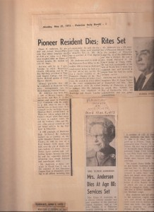 Newspaper articles and various photos and documents