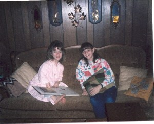 Susan Barnes and niece Christy Barnes 1984