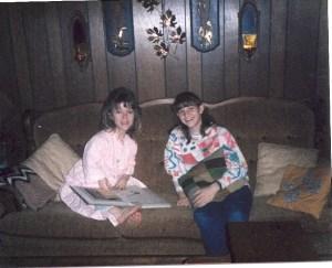 Susan Barnes and niece Christy Barnes 1984