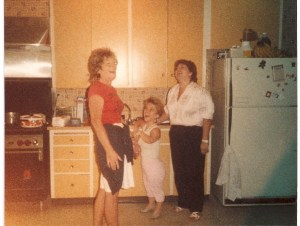 Susie and coworker and boss at school where she worked Sept 1986