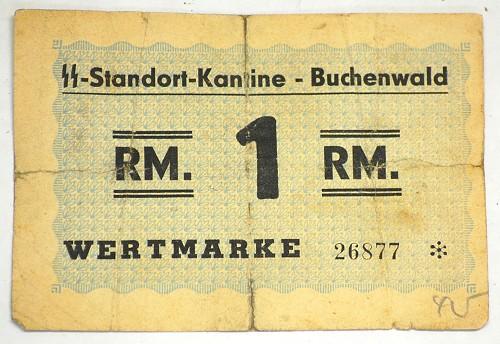 Concentration Camp Money Buchenwald