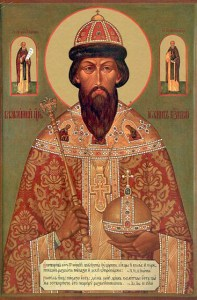 Icon of Ivan IV, depicting him as a saint. Russia has traditionally viewed him as such, even Emperor Alexander III had his icon in his private chapel. Only in recent times has this been denied.